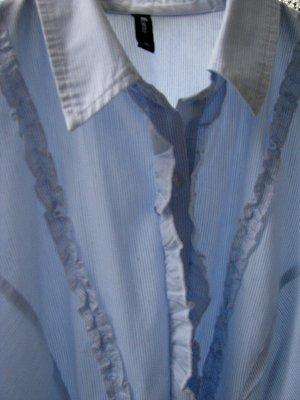 Langarmhemd hellblau-weiß Streifenmuster klassischer Stil