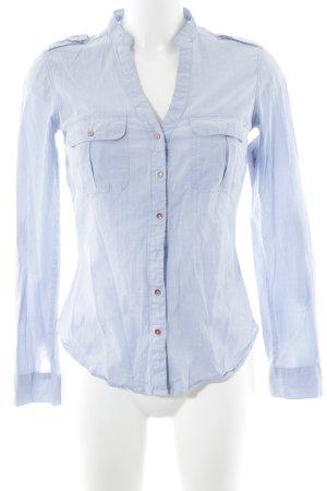 Chemise à manches longues bleu azur style d'affaires