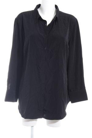 Chemise à manches longues noir style décontracté