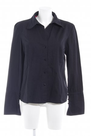 Langarmhemd schwarz klassischer Stil