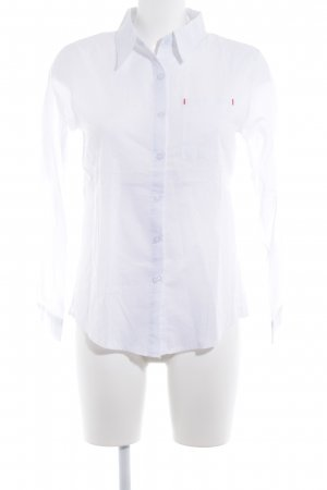 Chemise à manches longues blanc style d'affaires