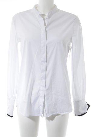 Langarmhemd weiß-schwarz Casual-Look