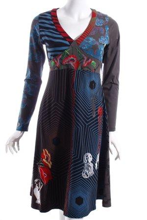 Langarmkleid abstraktes Muster Gypsy-Look