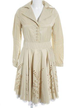 Langarmkleid beige Vintage-Look