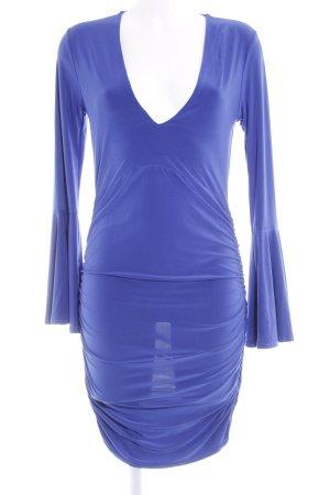 Langarmkleid blau Vintage-Look