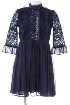 Langarmkleid dunkelblau Elegant