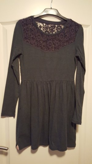 Superdry Vestido de tela de sudadera gris antracita