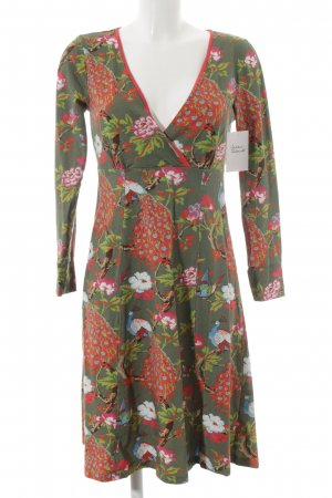 Langarmkleid florales Muster Street-Fashion-Look