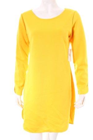 Langarmkleid gelb Street-Fashion-Look