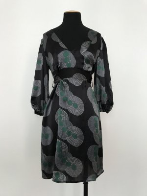 Langarmkleid mit All-Over-Print