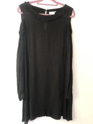 Kaffe Cut out jurk zwart Viscose