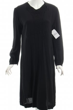 Langarmkleid schwarz 40ies-Stil