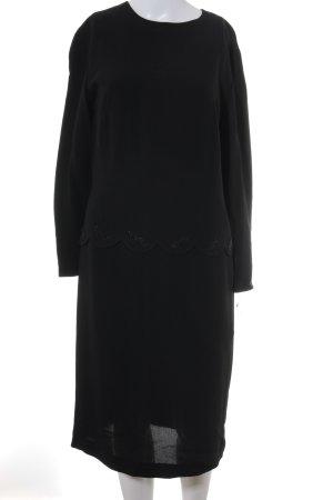 Robe à manches longues noir style décontracté