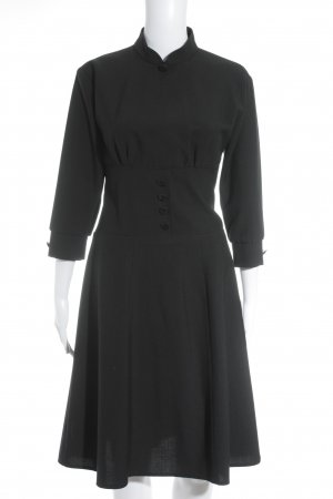 Langarmkleid schwarz Rockabilly-Look