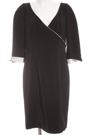 Langarmkleid schwarz-weiß Elegant