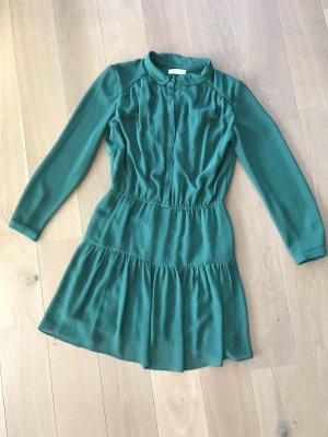 Ba&sh Longsleeve Dress forest green viscose