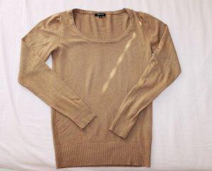 Amisu Kraagloze sweater cognac-bruin