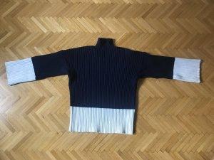 Polo Ralph Lauren Grof gebreide trui wit-donkerblauw