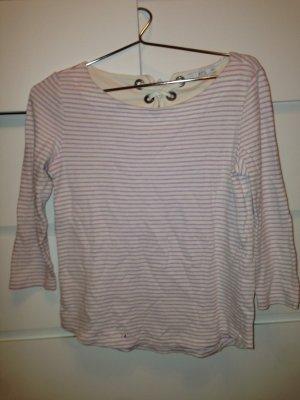 edc Camisa larga crema-rosa