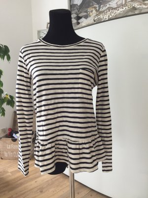 Leon & Harper Stripe Shirt dark blue-natural white
