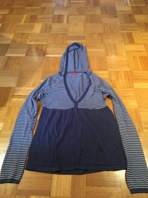 Edc Esprit Maglione con cappuccio blu