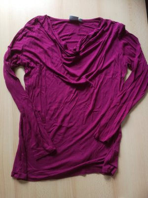 Cowl-Neck Shirt raspberry-red
