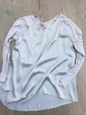 Marc Aurel Top à manches longues gris clair soie
