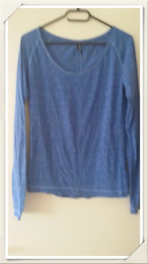 Langarmshirt, blau Größe M