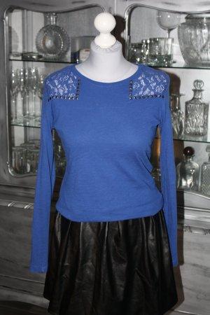Langarmshirt Bluse blau C&A 38