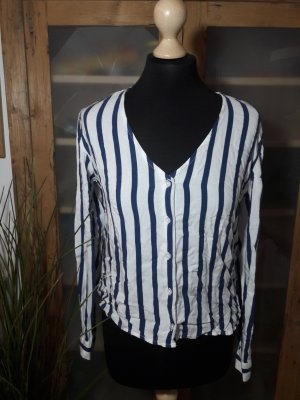 langarmshirt Bluse gestreift Marine Maritim blau weiß