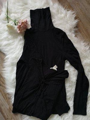 Camisa acanalada negro