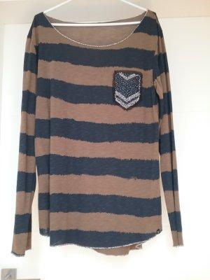 Key Largo Camisa de rayas marrón claro-azul