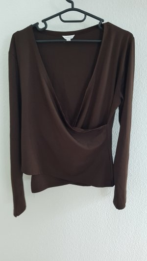 Wraparound Shirt dark brown