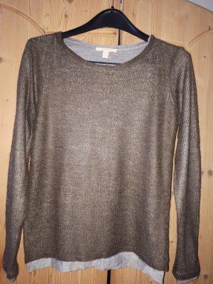 Esprit Camisa tejida gris claro-taupe
