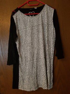 Laura Kent Camisa larga blanco-negro