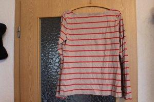 Langarmshirt gestreift rot beige Gr. M - H&M