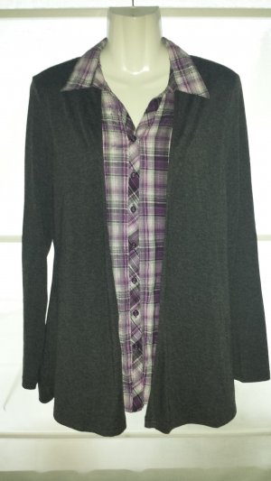 Canda Dickey (for blouse) taupe-brown violet