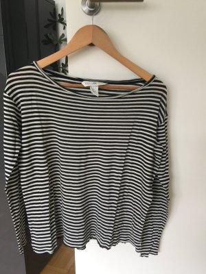 Langarmshirt H&M schwarz/weiß gestreift 36