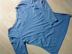 Langarmshirt in azurblau Größe 38
