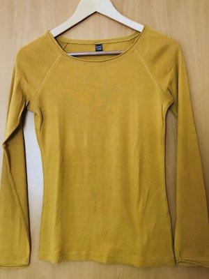 Langarmshirt in gelb