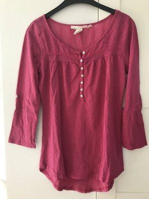 Langarmshirt in rot/pink Gr. S