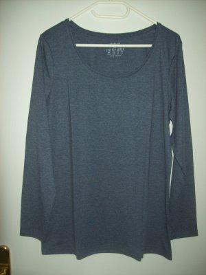 Langarmshirt jeansblau-meliert von Primark