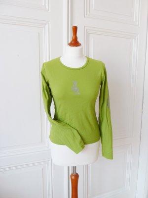 Langarmshirt, Longsleeve grün