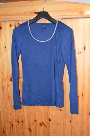 Langarmshirt, Longsleeve nachtblau