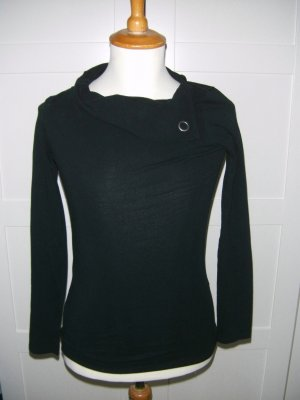 Langarmshirt, Longsleeve, Rollkragenshirt, schwarz, Esprit, Gr. XS
