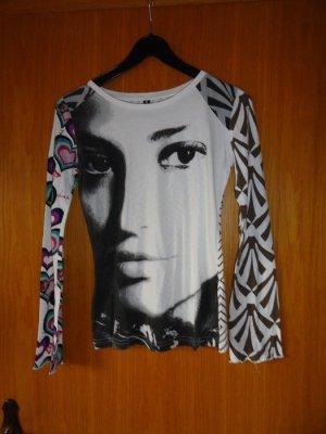 Langarmshirt Madonna Gr. 36 bunt mit Kopfaufdruck