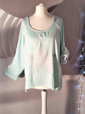 Slip-over blouse lichtblauw