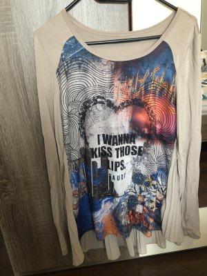 Langarmshirt mit buntem Print