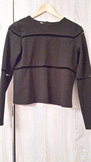 Langarmshirt mit durchsichtigen Details