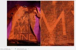 Langarmshirt mit print gr xs - s